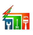 home repairs tool symbol vector image