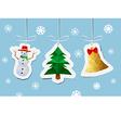 modern flat card with Christmas balls vector image