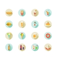 Set of fast food icons on web buttons vector image