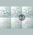 set of infographic design layouts circular vector image