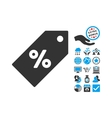 Discount Tag Flat Icon With Bonus vector image