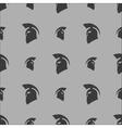 Greek Helmet Silhouette Seamless Pattern vector image
