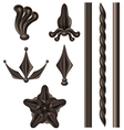 Wrought iron element set vector image vector image