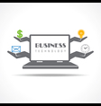 Business technology concept with laptop vector image vector image