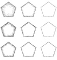 Pentagon Shape Set vector image
