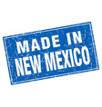 New Mexico blue square grunge made in stamp vector image