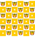 Tiger Star Yellow White Chess Board Background vector image vector image