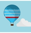 blue airballoon flying sky cloud with shadow vector image