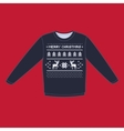 christmas winter warm sweater flat icon vector image