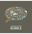 communication bubble vector image