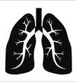 Human lung vector image