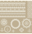 Lacy vintage ribbons napkins and design elements vector image