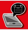 smartphone and calendar isolated icon design vector image