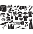 Laundry Icon Set vector image vector image