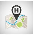 hotel map pin pointer design vector image
