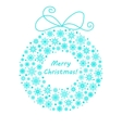 Christmas and New year wreath made from snowflakes vector image