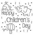 happy childrens day art vector image