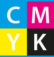 simple cmyk color sample background vector image
