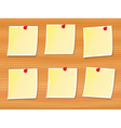 notes pinned to wood vector image vector image