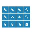 Key icons on blue background vector image