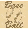 Vintage baseball vector image vector image