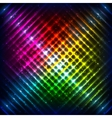 Rainbow neon grid background vector image vector image