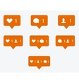 modern like orange icon vector image