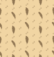 Seamless Pattern of Feathers with Ornate Elements vector image