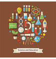 Flat Style Education and Science Objects Concept vector image