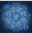 Abstract blue background with a round mandala vector image