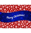 Merry Christmas theme banner witn snowflake vector image