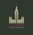 banner with big ben in london united kingdom uk vector image