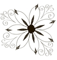 curled flowers ornament collection vector image