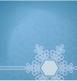 Frosted glass background with snowflakes vector image