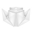 Origami steamship vector image