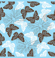 seamless pattern with butterflies vector image