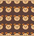 seamless teddy bear pattern pattern design vector image