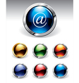 Shiny buttons vector image