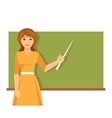 Teacher near blackboard vector image