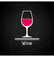 with glass of wine for menu cover vector image