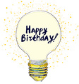 Happy birthday conceptual greeting card with vector