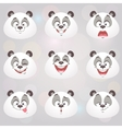 happy panda set vector image vector image
