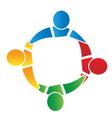 Teamwork in a hug logo vector image vector image