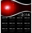 2014 new year calendar vector image vector image
