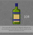 czech liquor alcoholic beverage card vector image