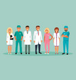 group of doctors vector image