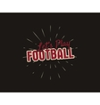Vintage american football and rugby label emblem vector image