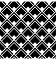 Geometric White Black Strict Pattern vector image