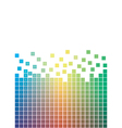 falling pixels vector image vector image