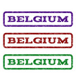 belgium watermark stamp vector image